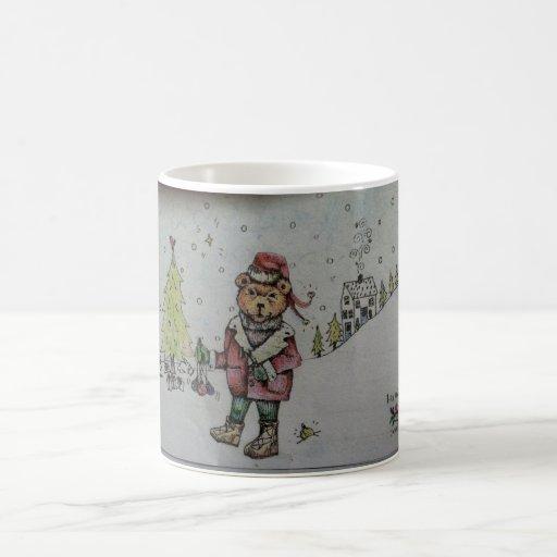 holiday Santa Bear Coffee Mug