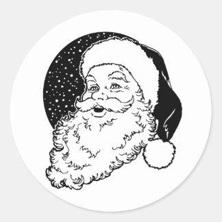 Holiday Santa Classic Round Sticker