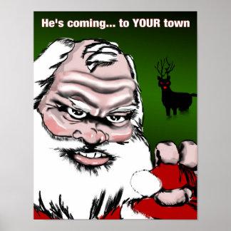 "Holiday Santa Poster(11""x14"") Matte Paper Poster"