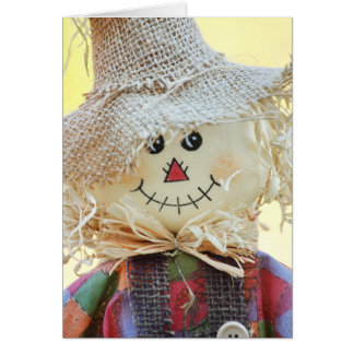 Holiday Scarecrow Greeting Card