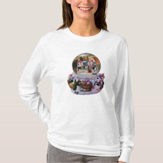 Holiday Scene Penguin Snow Globe T-Shirt