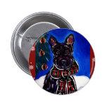 Holiday Scottish Terrier 2 Inch Round Button