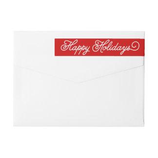 Holiday Script | Holiday Return Address Labels