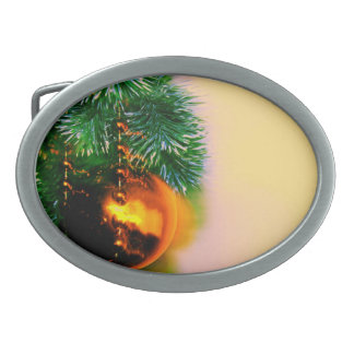 holiday season background belt buckle