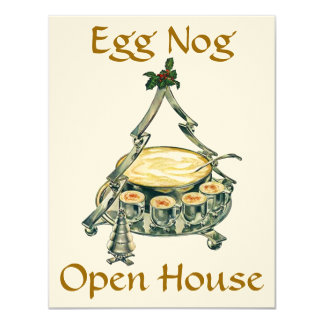 Holiday Season Egg Nog Open House Party Invitation