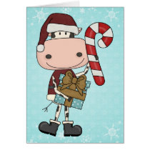 Holiday Season Gifts - Cow Card