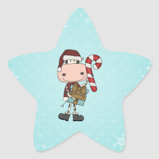 Holiday Season Gifts - Cow Star Sticker