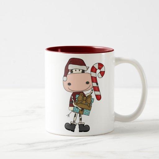 Holiday Season Gifts - Cow Two-Tone Coffee Mug