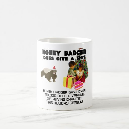 Holiday Season Honey Badger Classic White Coffee Mug