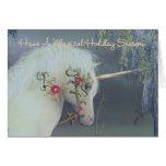 Holiday Season Magical Unicorn Card
