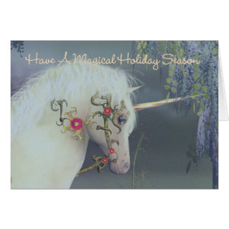 Holiday Season Magical Unicorn Card