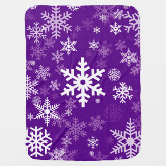 Holiday Season Snowflakes Purple for Everyone Receiving Blanket