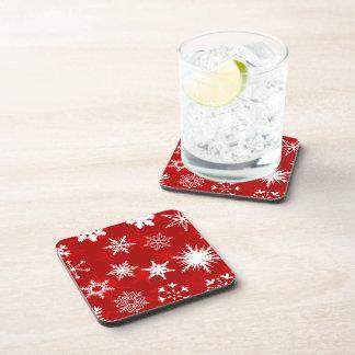 Holiday seasonal snowflakes drink coaster