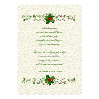 Holiday Sentiments Card