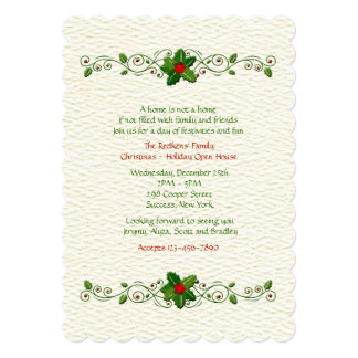 Holiday Sentiments Invitation