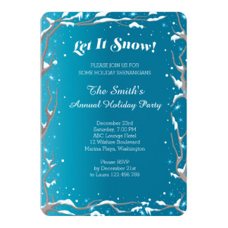 Holiday Shenanigans Party Card