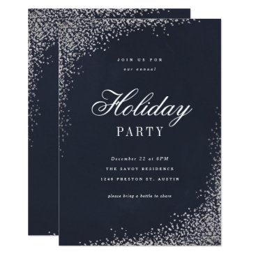 Professional Business Holiday shine faux foil party invitation