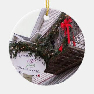 Holiday Shop Ceramic Ornament