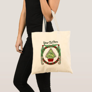 Holiday Silver Bells Tote Bag