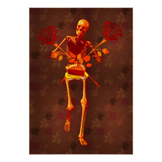 Holiday Skeleton Poster