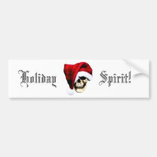 Holiday Skull Car Bumper Sticker