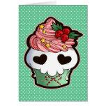 Holiday Skull Cupcake Card