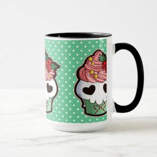Holiday Skull Cupcake Mug