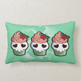 Holiday Skull Cupcake Pillow