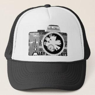 holiday snap trucker hat