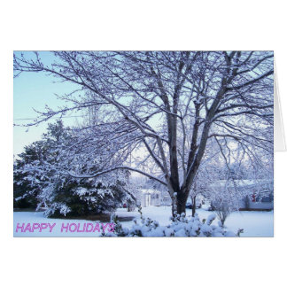 Holiday Snow Card