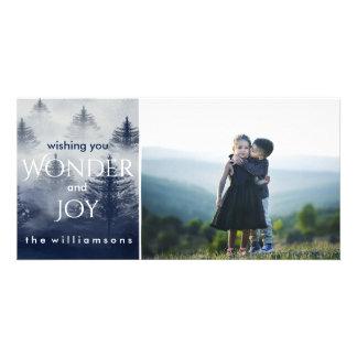 Holiday Snow Forest Winter Wonderland Photo Card