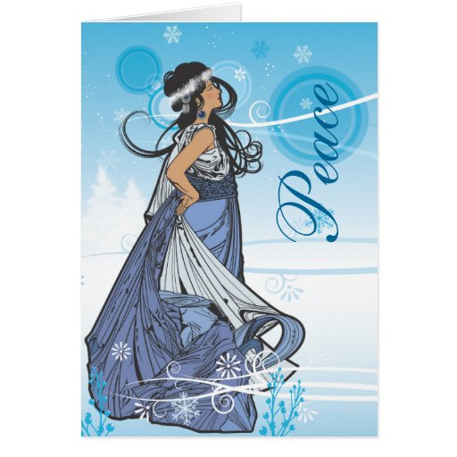 Holiday Snow Queen Greeting Card