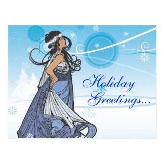 Holiday Snow Queen Postcard