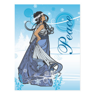 Holiday Snow Queen Postcard