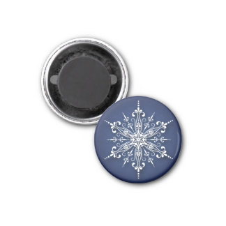Holiday Snowflake Christmas Magnet