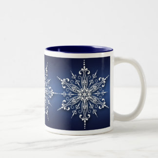 Holiday Snowflake Christmas Mug