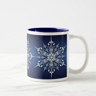 Holiday Snowflake Christmas Mug