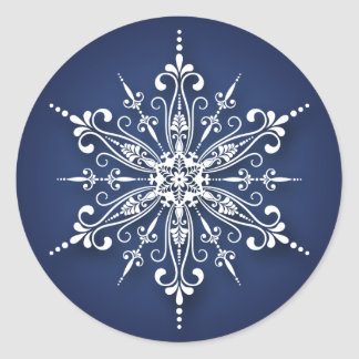 Holiday Snowflake Christmas Stickers