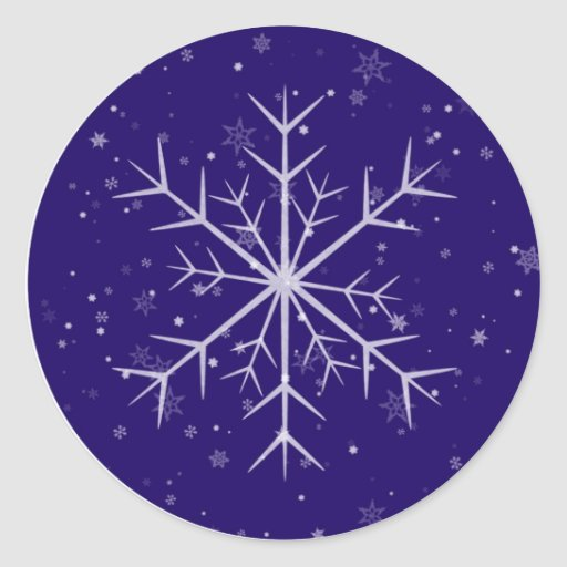 Holiday Snowflake Classic Round Sticker