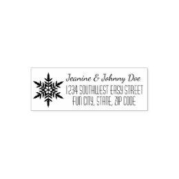 Holiday Snowflake Custom Address Stamp