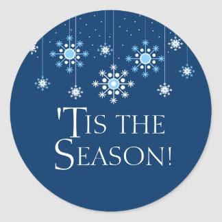 Holiday Snowflake in Ice Blue Sticker