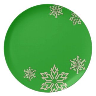 Holiday Snowflake Plates