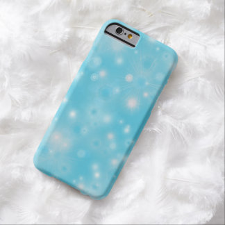 Holiday snowflake white blue pattern iPhone 6 case