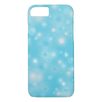 Holiday snowflake white blue pattern iPhone 7 case