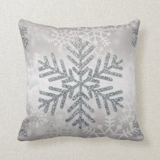 Holiday Snowflake with Silver Glitter