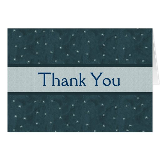 Holiday Snowflakes Blank Thank You Card