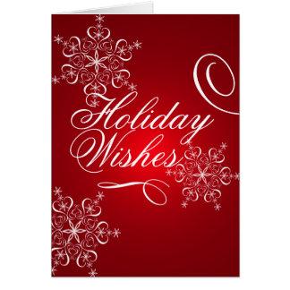 Holiday Snowflakes Card