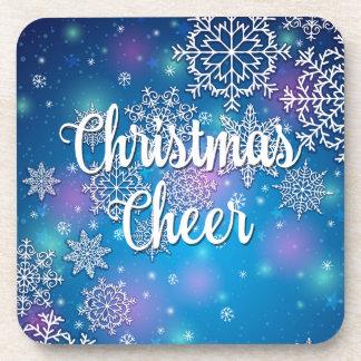 Holiday Snowflakes Christmas Cheer Beverage Coaster