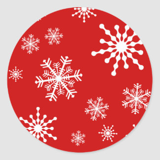 Holiday Snowflakes Classic Round Sticker