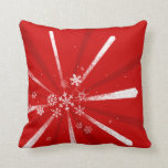 Holiday Snowflakes Custom Color Pillow